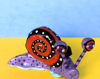 Little Purple Snail - Mexican Inspired Clay Sculpture