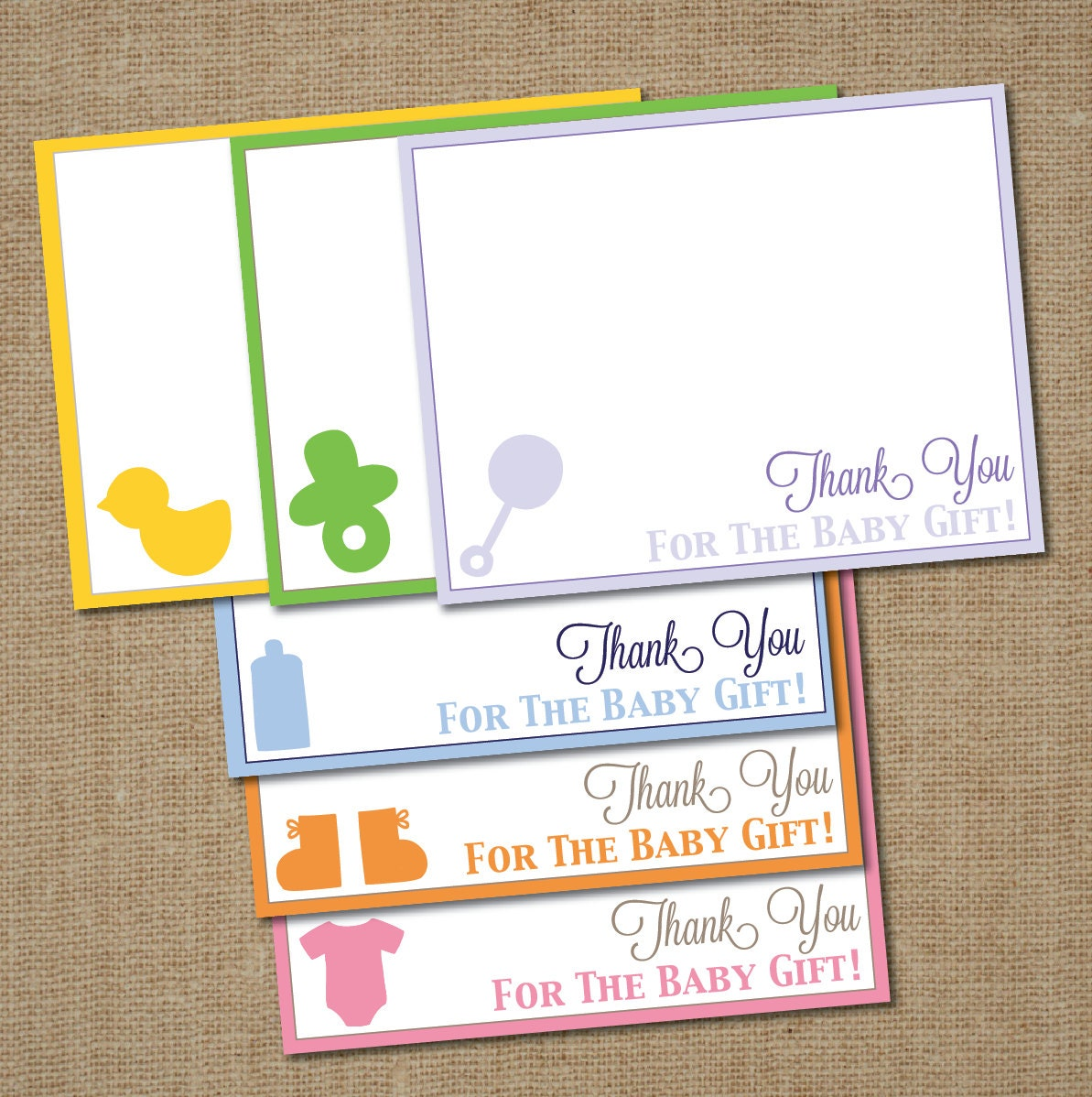 items similar to baby shower thank you card silhouette a