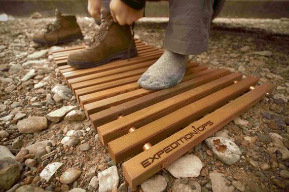 Reclaimed Redwood Mat For Door Shower Or Camping