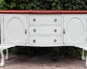 Shabby chic sideboard original victorian fininshed in farrow ball