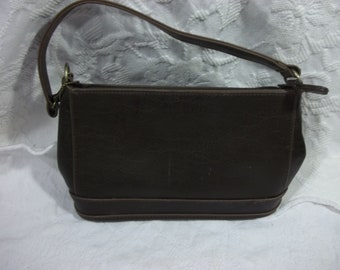 Giannini Brown Leatherette Satchel, New Old Stock,  without tags