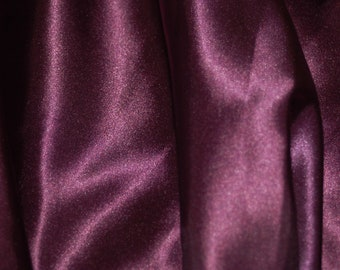 plum satin fabric by yard