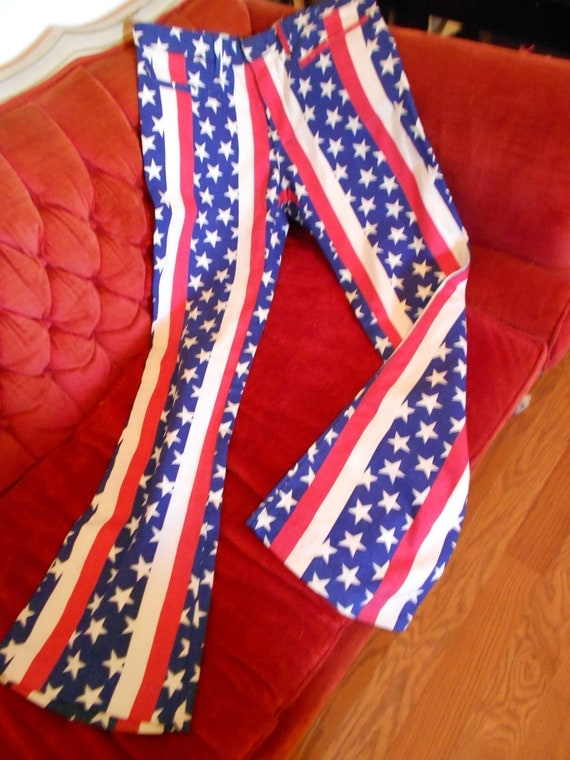 Bicentennial Spirit of '76 Hiphugger Bellbottom Pants ca. 1975