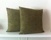 SALE 20% off during September, Green Paisley Cushion Covers, set of 2