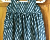 Girls Pinafore Smock Top/Dress 4T in Blue SALE 50% off