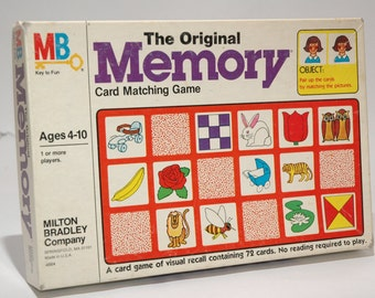 The Original Memory Game from Milton Bradley 1980 COMPLETE (read description)