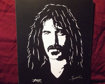 """Frank Zappa is a Limited Edition numbered Print by Artist Charles Freeman -10""""x13"""""""