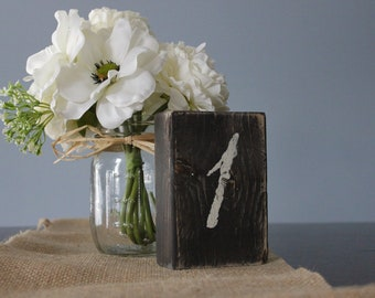 Rustic Wood Table Numbers, Shabby Chic Wedding Decor Set of 10