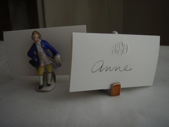 Baroque Porcelain Place Card Holder Figurines