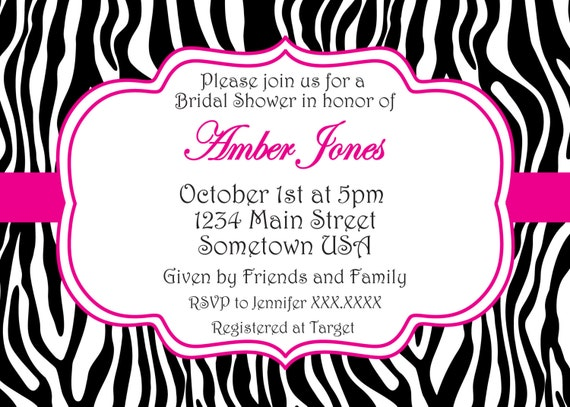 Zebra Birthday Printable Invitation por MakinMemoriesOnPaper