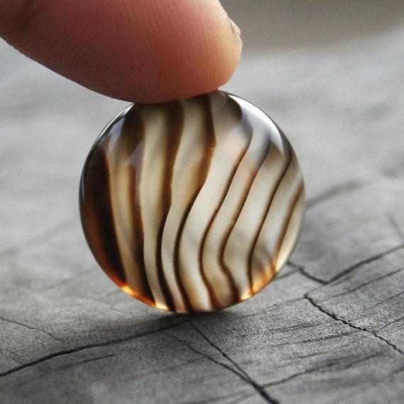 Zebra Agate Cabochon, Semiprecious stone, Jewelry making Supplies (AC354)