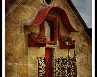 Prague Czech Republic-  Prague Balcony, Color, Prague Photography, Prague Wall Art Decor