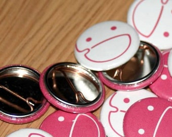 100 Custom One Inch Buttons for 25 dollars with Free Shipping