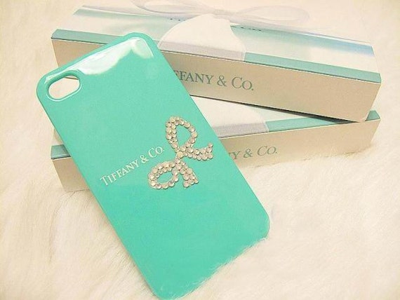 ON SALE NOW Bling Swarovski Crystal iPhone case Rhinestone Tiffany Inspired iPhone Case for iPhone 4 case ,iPhone 4s cases