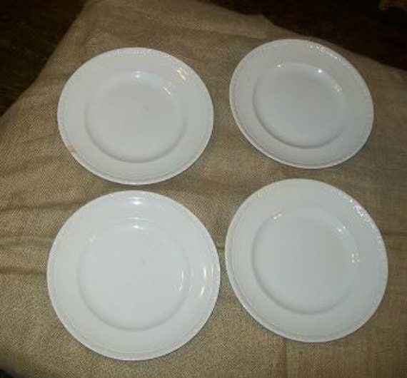 4-Hedge Rose Plates -Wedgwood and Co. Ltd England