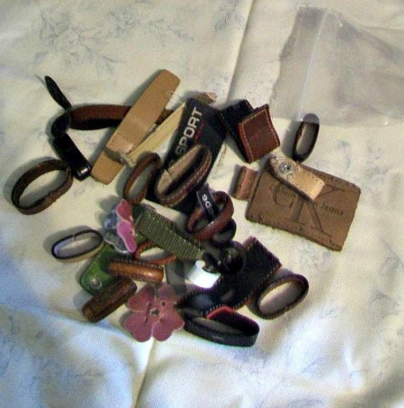 Loops,Commercial Labels, Embellishments - Leather and plastic