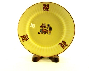 Vintage Yellow Plate