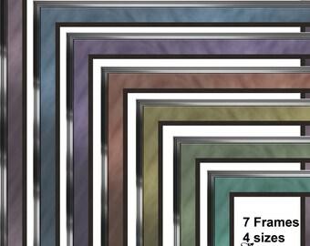 Double Matted Frames Digital Scrapbooking Kit. Scrap 4 Hire Friendly