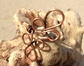 Fun, Funky and Artistic copper wirewrapped ring