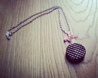 Chocolate Digestive Biscuit necklace