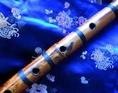 "23"" Shakuhachi Zen flute with black binding"