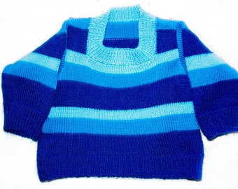 Knitted baby pullover
