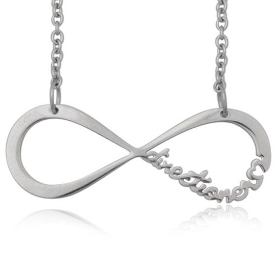 """Stainless Steel One Direction """"Directioner Forever"""" Infinity Necklace SHIPS FROM USA"""