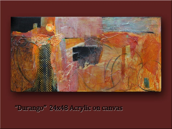 Most popular Modern Abstract Art by williampaints 24x48 Gallery Wrap mixed media acrylic with lots of texture