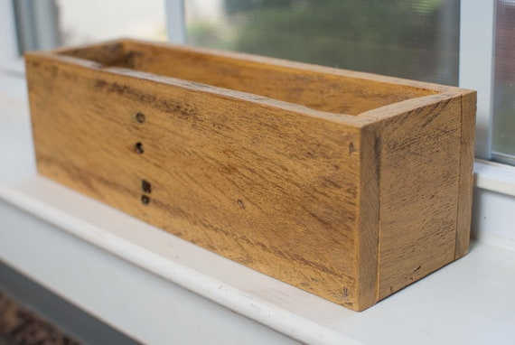 Like this item? - Wood Box / Centerpiece Box Made Of Reclaimed Wood