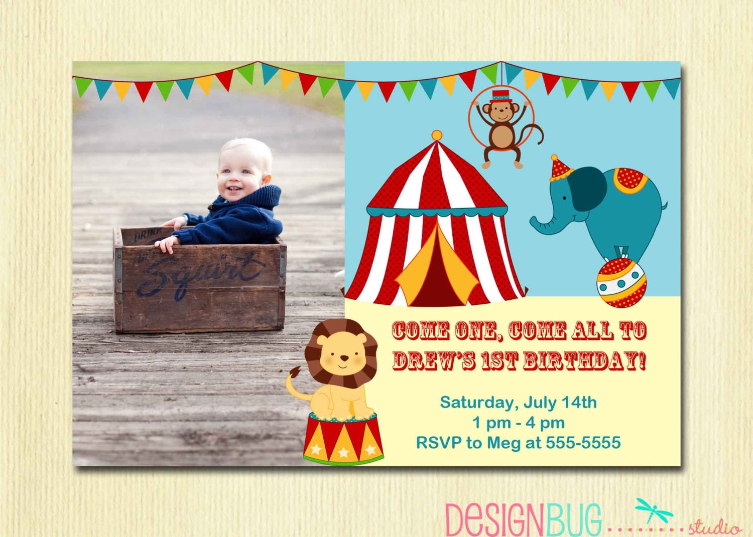 circus carnival birthday invitation circus birthday first by, Birthday invitations