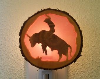 Bull-rider nightlight