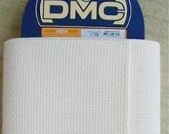 DMC  11 count Aida  Cross Stitch Fabric, white