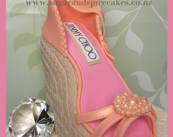 Jimmy Choo Wedge Shoe Cake - TUTORIAL in .pdf Recipes Included