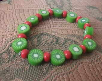 Kiwi Beaded Bracelet
