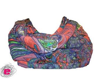 Infinity scarf , loop paisley