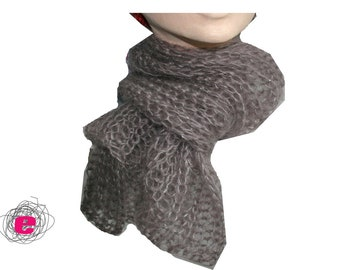 knitted scarf taupe
