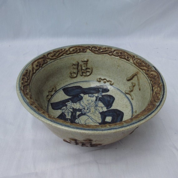 Art Blue and White Porcelain Glazed Bowl