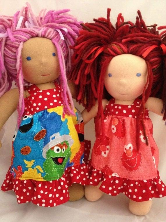 """14"""" Sesame Street Elmo dress for Waldof inspired doll"""