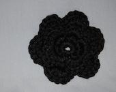 Black Crocheted Flower