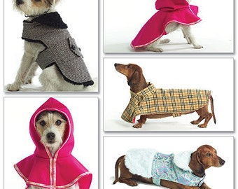 Butterick 4885, Dog Coat, Dog Jacket, Pet Jacket Sewing Pattern , Daschund Cooat, Out of Print Pattern