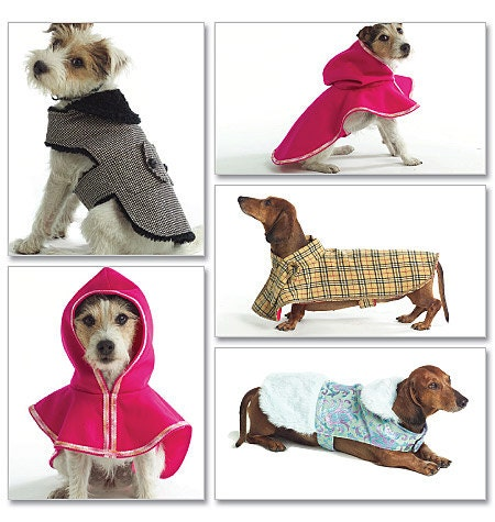 Butterick 4885 dog coat dog jacket pet jacket sewing for Dog coat template