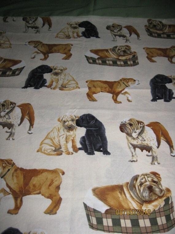 Single Standard Size Pillow Case OOAK Dogs 100% Cotton
