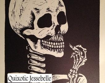 Isn't She Lovely -Skeleton Print