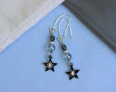 Whimsical Night-sky Blue Earrings