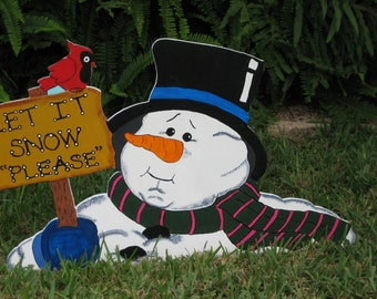 Christmas Let It Snow Frosty