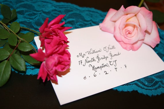 Wedding Calligraphy - Beverly Script Hand Lettering Envelope Addressing