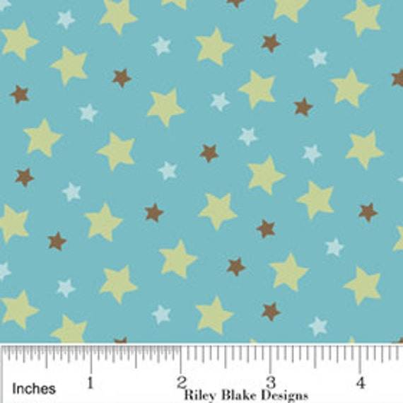 Fabric Mod Tod 'Star' in Blue by Sheri Berry for Riley Blake