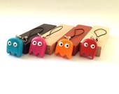 Pac-Man Ghosts' Party Mobile Phone/ Keychain Charms - Polymer clay