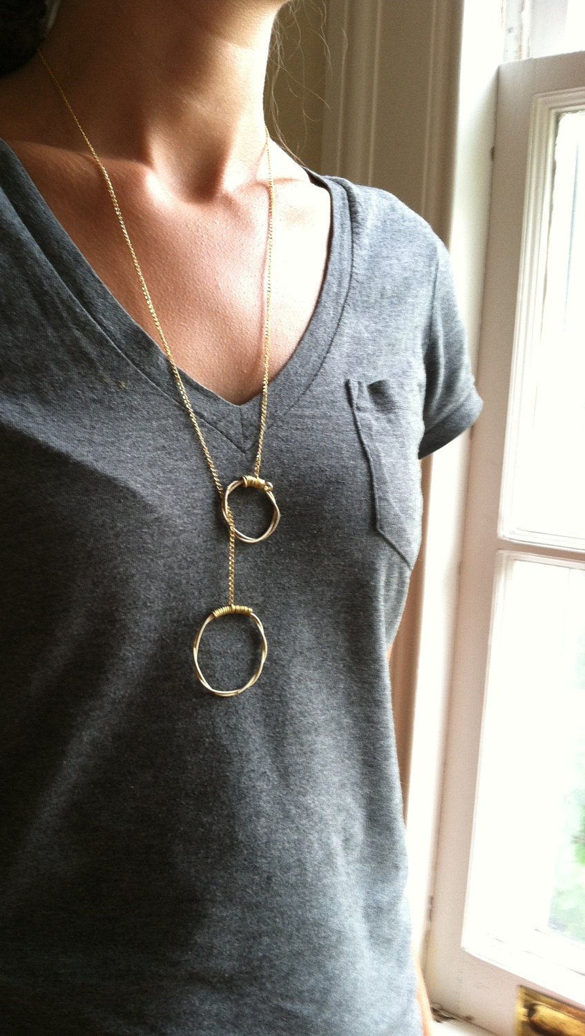 gold guitar string necklace w toggle closure awesome. Black Bedroom Furniture Sets. Home Design Ideas