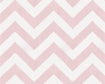 Curtain/Window Valance in Baby Pink Zig Zag 100% Cotton,Home Decor,Nursery,Baby's Room